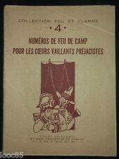 Feu de Camp pour les Coeurs Vaillants préjacistes n°4 - 1947 - scout -