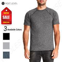 NEW Next Level Men's Mock Twist Short Sleeve Raglan T-Shirt M-2050