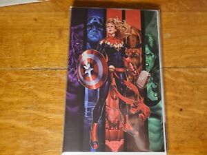 Captain Marvel #16 Brooks Exclusive Virgin Variant VF/NM Captain America