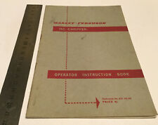 Massey Ferguson Original 762 Chopper Instruction Manual/Book