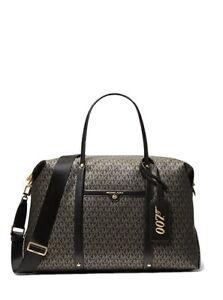 MICHAEL KORS MMK x 007 Beck XL Metallic Logo Weekender Bag With Luggage Tag $378