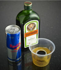 Disposable Shot Glasses Plastic Clear Bomb Shots Hard Liquor Cup 25ml 50 Sleeve