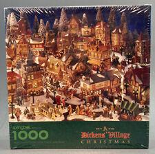 Springbok Hallmark Jigsaw Puzzle A Dickens' Village Christmas 1994 New 1000 PCs.