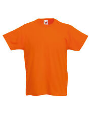 CHILDRENS T-SHIRT, Fruit of the Loom Original Tee 100% Cotton Boys / Girls SS12B