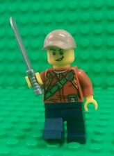 *NEW* Lego Jungle Explorer Adventurer w Machete Sword Minifig Figure Fig x 1
