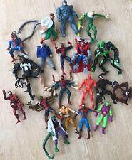 19 Figures Marvel Lot Spiderman Villains Doc Oc Venom Rhino Lizard Others