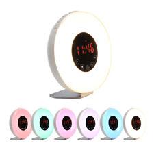 Sunrise Simulation Wake-up Light Alarm Clock LED FM Radio Bedside Night Lamp
