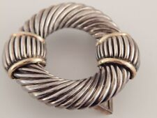 Sterling Silver 925 18k Yellow Gold Accents Designer David Yurman Belt Buckle