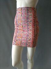 Emily Sharp Festival Body-con Mini Skirt- vintage crayon print. S, M or L