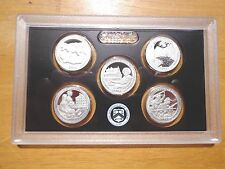2017 S SILVER Proof America The Beautiful Quarter Set  No Box or Coa