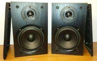 PAIR Vintage RCA Radio Shack 40-5022 Bookshelf Speakers Black Wood