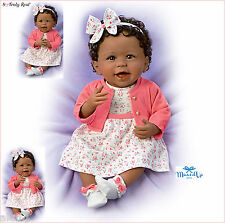 AISHA WEIGHTED POSEABLE BABY GIRL DOLL BY ASHTON DRAKE