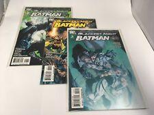 Blackest Night Batman # 1 2 3 DC Comics 2009  VF/NM Set of 3 Green Lantern