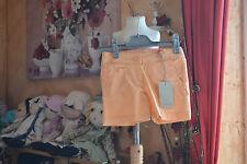 short cyrillus neuf 5 ans orange tres lumineux coll ete
