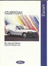 FORD SPECIAL EDITION ESCORT CUSTOM VAN SALES BROCHURE 1992