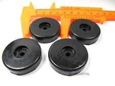 4x Isolation Rubber Feet Pad Base 40*10mm Cabinet Amplifier Speaker CD DVD