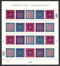 U.S SCOTT 3524-27 MNH PANE/20 - 2001 34c MULTI-COLORED - AMERICAN TREASURES