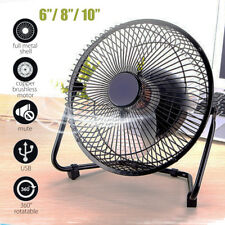 6''/8''/10'' Metal Electrical 360°Rotatable USB Fan Rechargeable Battery Cooler