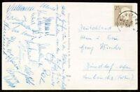 s1673) Fussball-WM 1958 in Schweden AK mit Unterschriften der dt Nationalspieler