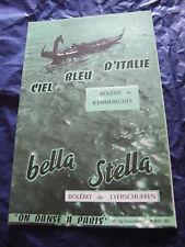 Partition Ciel bleu d'Italie de R. Emmerechts Bella Stella de J. Verschueren
