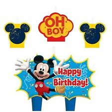 MICKEY MOUSE BIRTHDAY CAKE CANDLES SET OF 4 BIRTHDAY CAKE DECORATION FAVORS