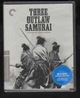 Three Outlaw Samurai (Blu-ray Disc, 2012, Criterion Collection) FACTORY SEALED