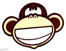 "3"" Bobby jack monkey music smile  fabric applique iron on character"