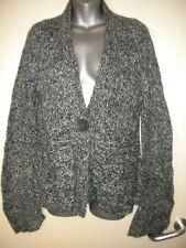 George black/grey fleck 1 x button fastening loose cardigan shrug size 12