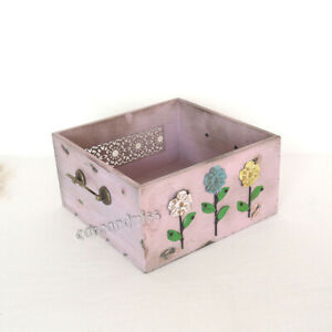 Newborn Studio Photo Shoot Photography Props Wooden Floral Quadrate Drawer Frame