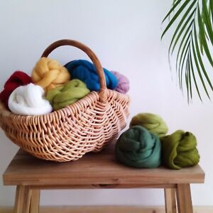 80 colours* 100% Pure Merino Wool Tops for Needle and Wet Felting 10 - 150 g