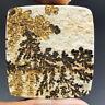 Cts 129.50 Natural Landscape Psilomelane Dendritic Limestone Square Cabochon