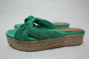 H&M Size 9 Womens Open Toe Tie Knot Detail Espadrille Flatform