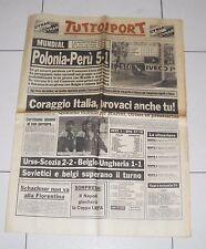 Tuttosport MONDIALI SPAGNA 1982 Vigilia ITALIA-CAMERUN Fifa world cup 23 giugno