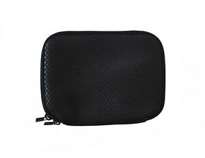 "8"" x 6"" Cable Bag, 7"" 8"" Tablet Sleeve, iPad mini - Textured Neoprene - Black"