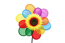 Sunflower Windmill Wind Spinner Rainbow Whirligig Wheel Home Yard Decoration Chi