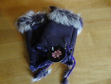 Women's Fingerless Gloves COCO NWT Texting Gloves Sherpa Sheepskin w/Rabbit Fur