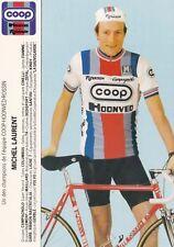 CYCLISME carte cycliste MICHEL LAURENT équipe COOP HONVED ROSSIN 1984