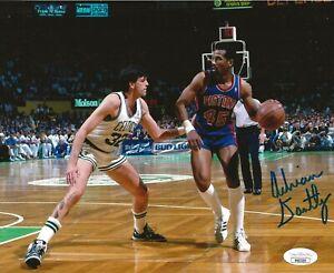 Adrian Dantley signed Detroit Pistons 8x10 photo autographed JSA