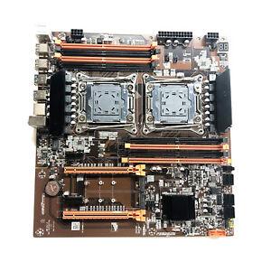 X99 Dual Server Desktop Motherboard Set LGA 2011-3 CPU Slot Motherboard 29x28cm