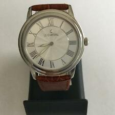 Le Chateau Men,s / Ladies 7011 M- Brown Leather Watch With Roman Numerals