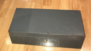 VINTAGE STEELMASTER OFFICE EQUIPMENT METAL BOND BOX NO 3 NO KEY ART STEEL CO