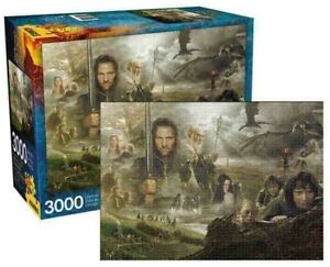 3000 piece Jigsaw Puzzle LORD OF THE RINGS - SAGA by AQUARIUS Licensed