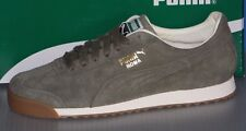 MENS PUMA ROMA DISTRESSED NBK in colors BURNT OLIVE / WHITE SIZE 8