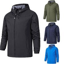New Mens Jacket Hooded Coat Waterproof Windproof Tactical Outdoor Oversize Hike