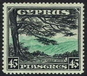 CYPRUS 1934 FOREST VIEW 45PI