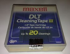 NEW SEALED MAXELL 183770 DLT CLEANING TAPE CARTRIDGE