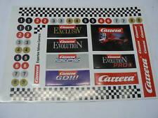 Carrera Evolution Profi Exclusiv Go Pro-x Aufkleber NEU