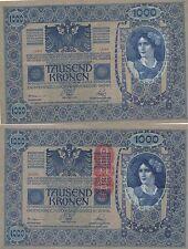 AUSTRIA 1000 KRONER. 2 de Junio de 1902. Serie 1538. Nº 22325. Tamaño 193x130.