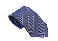 Men's white and gray  geometric stripped   woven tie
