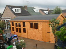 """20x10 summerhouse/shed 13mm t+g opening windows 3""""X2""""framework 1""""thick floor"""